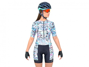 Macaquinho Marcio May Slim Fit Bike Rainbow